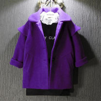 Plain coat Other / other female 7(100cm),9(110cm),11(120cm),13(130cm),15(140cm) violet winter thickening nothing Solid color blending F0443