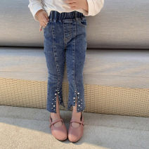 trousers Other / other female 7(90cm),9(100cm),11(110cm),13(120cm),15(130cm) Denim blue spring and autumn trousers Korean version Jeans other Don't open the crotch F6808 F6808 2 years old, 3 years old, 4 years old, 5 years old, 6 years old Chinese Mainland