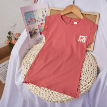 Dress Pink female Other / other 7(90cm),9(100cm),11(110cm),13(120cm),15(130cm) Other 100% summer Korean version Short sleeve other other 2 years old, 3 years old, 4 years old, 5 years old, 6 years old Chinese Mainland