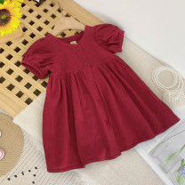 Dress Red, light green female Other / other 7(90cm),9(100cm),11(110cm),13(120cm),15(130cm) Other 100% summer Korean version Short sleeve other other F6624 2 years old, 3 years old, 4 years old, 5 years old, 6 years old Chinese Mainland
