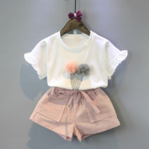 suit Other / other Picture color 7(90cm) 9(100cm) 11(110cm) 13(120cm) 15(130cm) female summer Korean version Short sleeve + pants 2 pieces routine Socket nothing other F3067