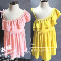 Dress Pink yellow red Other / other female 7(100cm) 9(110cm) 11(120cm) 13(130cm) 15(140cm) Other 100% summer Korean version Skirt / vest Solid color