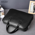 Men's bag handbag cowhide Other / other black brand new business affairs European and American fashion zipper soft in no Pocket computer pocket zipper ID Solid color Yes Single root youth Horizontal square Color contrast two million eighteen thousand and thirteen Hard handle 14 inches