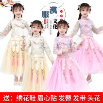 Tang costume 110 120 130 140 150 160 Polyester 100% female All seasons There are models in the real shooting routine other Class B Broken flowers Cotton liner Chinese Mainland Shandong Province Spring 2021 HeZe