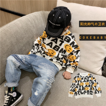 Sweater / sweater Other / other Smiley face full printed sweater in stock, smiley face full printed sweater pre-sale neutral 100cm,110cm,120cm,130cm,140cm,150cm spring and autumn nothing leisure time Socket routine There are models in the real shooting cotton Cartoon animation Cotton liner