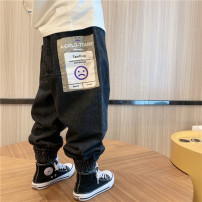 trousers Other / other neutral 90cm,100cm,110cm,120cm,130cm,140cm,150cm,160cm Smiley face jeans in stock spring and autumn trousers leisure time There are models in the real shooting Jeans Leather belt middle-waisted cotton Don't open the crotch Class B trousers Chinese Mainland
