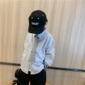 shirt Tie shirt in stock, Tie Shirt pre-sale Other / other neutral 90cm,100cm,110cm,120cm,130cm,140cm,150cm Long sleeves Korean version Cartoon animation cotton