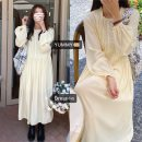 Dress Spring 2021 White, beige Average size longuette singleton  Long sleeves other Loose waist Solid color Socket Big swing bishop sleeve Others 18-24 years old fungus 71% (inclusive) - 80% (inclusive) other other
