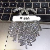 Brooch Synthetic cubic zirconia / water drill 10-19.99 yuan Other / other silvery brand new goods in stock Japan and South Korea female Fresh out of the oven Alloy inlaid artificial gem / semi gem other