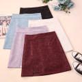 skirt Autumn 2020 S,M,L,XL Black, apricot, Burgundy, blue, purple Short skirt commute High waist A-line skirt Solid color Type A 18-24 years old CSNRG35081 71% (inclusive) - 80% (inclusive) other zipper Korean version