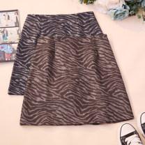 skirt Autumn 2020 S,M,L,XL Brown, black Short skirt commute High waist A-line skirt Zebra pattern Type A 18-24 years old CSNRG9568 71% (inclusive) - 80% (inclusive) zipper Korean version