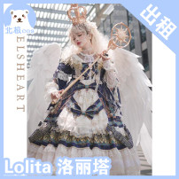 Cosplay women's wear skirt goods in stock Over 14 years old Little crown + clothes + skirt [rent], [deposit], white gloves [new price, black gloves [new price], white socks [new price], black socks [new price], Lolita wig shoes and other accessories are available for rent Animation, original L Lolita
