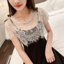 Lace / Chiffon Summer 2020 Black and white Average size Short sleeve commute singleton  have cash less than that is registered in the accounts Crew neck Solid color Vee miny Lace Other 100%