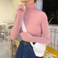 Lace / Chiffon Winter 2020 Off white rose red purple black Khaki lotus root Pink Average size Long sleeves commute Socket Regular High collar Solid color routine Vee miny Other 100%