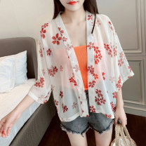 Lace / Chiffon Summer of 2019 Picture color Average size Long sleeves Versatile Cardigan singleton  easy Regular Vee miny Other 100%