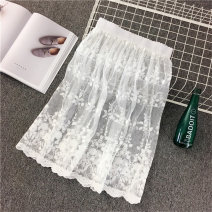 skirt Winter 2017 Average size Mid length dress Versatile Natural waist Solid color More than 95% Vee miny other Hollow lace Other 100% Pure e-commerce (online only)