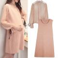 Dress YUNKEER Black, orange pink Average size Korean version Dot polyester 9127#
