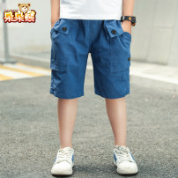 trousers Bear after bear male 110cm 120cm 130cm 140cm 150cm 160cm Blue black summer Pant motion There are models in the real shooting Sports pants Leather belt middle-waisted cotton Don't open the crotch Cotton 100% D20B1560 Class B Summer 2020 Five, six, seven, eight, nine, ten, eleven, twelve
