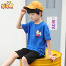 suit Bear after bear blue 110cm 120cm 130cm 140cm 150cm 160cm male summer Korean version Short sleeve + pants 2 pieces There are models in the real shooting Socket nothing Solid color cotton children Giving presents at school D20D1755 Class B Cotton 100% Summer 2020 Chinese Mainland Zhejiang Province