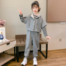 suit Other / other grey 110cm,120cm,130cm,140cm,150cm,160cm,170cm female spring and autumn motion Long sleeve + pants 3 pieces routine There are models in the real shooting Socket No detachable cap Solid color other children Expression of love other Other 100% Chinese Mainland