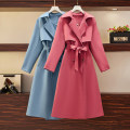 Women's large Spring 2021 Red, blue Large L, large XL, large 2XL, large 3XL, large 4XL Windbreaker singleton  commute easy moderate Cardigan Long sleeves Solid color Korean version other polyester pocket Medium length