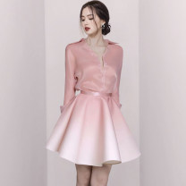 Fashion suit Spring 2021 S M L XL Pink 25-35 years old Flying all over the sky M5208888 Polyester 95% polyurethane elastic fiber (spandex) 5% Pure e-commerce (online only)