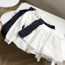 skirt Spring 2021 M Royal blue skirt, white skirt Short skirt commute Solid color 18-24 years old FG309248 30% and below cotton