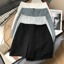 skirt Spring 2021 S,M,L Blue, white, black, green Short skirt commute High waist Irregular Solid color 18-24 years old SG514210 30% and below Other / other Korean version