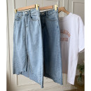 skirt Spring 2021 S,M,L,XL Blue denim skirt Middle-skirt High waist other other 18-24 years old SG309518 30% and below other