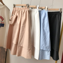 skirt Summer 2021 M, L Apricot, blue, white, black longuette commute High waist A-line skirt Solid color Type A 18-24 years old FG159025 30% and below Other / other Korean version