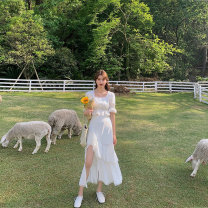 skirt Summer 2020 S,M,L White (long), black (long), white (short), black (short), white (long) -, black (long) -, white (short), black (short)- Mid length dress Sweet High waist A-line skirt Solid color Type A 18-24 years old F200524 More than 95% Chiffon Fan Zhiqiao polyester fiber Ruili