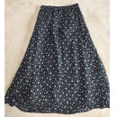 skirt Summer 2020 Average size Wave point, black lining, wave point, coffee lining Natural waist A-line skirt H22 More than 95% silk