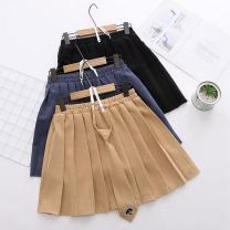 skirt Spring 2020 Average size Short skirt Sweet High waist Pleated skirt Solid color Type A 18-24 years old 30% and below other other Embroidery, three dimensional decoration solar system