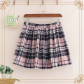 skirt Spring 2020 Average size Pink check Short skirt Sweet Natural waist A-line skirt lattice Type A 18-24 years old 30% and below Wool other college