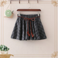 skirt Spring 2021 Average size Dark grey, pink Short skirt Sweet Natural waist A-line skirt lattice Type A 18-24 years old More than 95% other Frenulum solar system