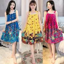 Nightdress Other / other Average size Sweet camisole pajamas Short skirt summer other youth square neck viscose  More than 95%