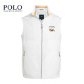 Vest / vest Fashion City Royal Queen's Polo Team 165,170,175,180,185,190 white Other leisure standard Vest routine spring stand collar youth 2021 Business Casual Solid color zipper Rubber band hem Polyester 100% No iron treatment Arrest line nothing Polyester viscose Zipper bag