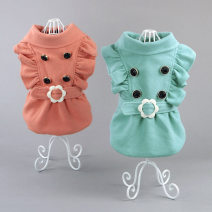 Pet clothing / raincoat Dog skirt XS S M L XL XXL XXXL Chicdog princess Water green ring windbreaker rubber red ring windbreaker A13002