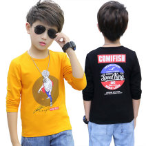 T-shirt Other / other male spring and autumn Long sleeves Crew neck leisure time There are models in the real shooting nothing cotton Cartoon animation Cotton 95% other 5% Class B Sweat absorption Chinese Mainland Guangdong Province Foshan City