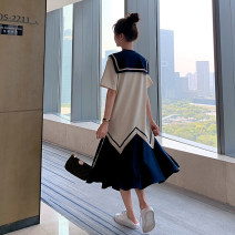 Dress Summer 2020 Blue, black S,M,L commute 18-24 years old Korean version 238-8097