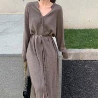 Dress Autumn 2020 Mocha, apricot grey S,M,L,XL 25-29 years old