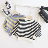 Sweater / sweater 80cm,90cm,100cm,110cm,120cm,130cm,140cm cotton neutral Black and white stripes Other / other leisure time No model Socket routine Crew neck nothing Ordinary wool stripe 12 months, 2 years old, 3 years old, 4 years old, 5 years old, 6 years old, 7 years old