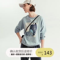 Sweater / sweater Spring of 2019 Ash blue S M L XL Long sleeves routine Socket singleton  routine Crew neck Straight cylinder commute character 25-29 years old 71% (inclusive) - 80% (inclusive) cloudspace Korean version cotton 91V1696 Cotton 78.2% polyester 21.8%