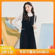 Dress Spring 2021 Black vest skirt S,M,L Short skirt singleton  commute Crew neck Loose waist Socket 18-24 years old Hstyle / handu clothing house Korean version MX10192.