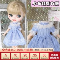 Doll / accessories 14 years old, over 14 years old Ordinary doll De Bi Sheng China Suitable for little Bridget doll Blue stripe Over 14 years old Baby clothes