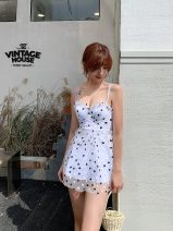 Split swimsuit heyswim Model color S,M,L,XL Skirt split swimsuit With chest pad without steel support