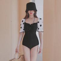 one piece  heyswim M,L,XL Picture color Skirt one piece With chest pad without steel support female Middle sleeve Casual swimsuit