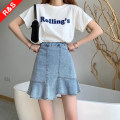 skirt Summer 2021 S,M,L White, blue, black Short skirt commute High waist A-line skirt Solid color Type A 18-24 years old B21S1352 81% (inclusive) - 90% (inclusive) Denim Other / other cotton Korean version