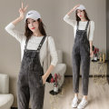 Jeans Spring 2021 grey S,M,L,XL trousers High waist rompers routine 18-24 years old Cotton denim Dark color Y-8 96% and above