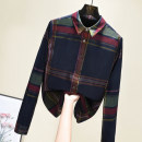 shirt Red and green check , Red and green M,L,XL,2XL,3XL Spring 2021 cotton 96% and above Long sleeves commute Regular Polo collar Single row multi button routine lattice 30-34 years old Self cultivation Other / other Korean version Stitching, printing, pleats, buttons pure cotton